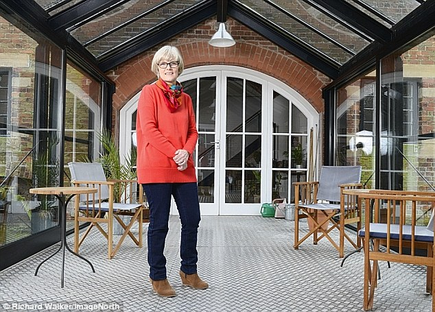 Dr Gemma Brownson, pictured, converted the buildings into a family home with husband Tony