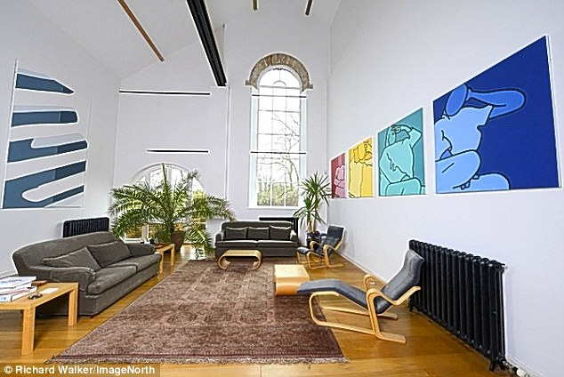 The five-bed property boasts ultra-modern features and is on sale for £850,000 with Jackson-Stops