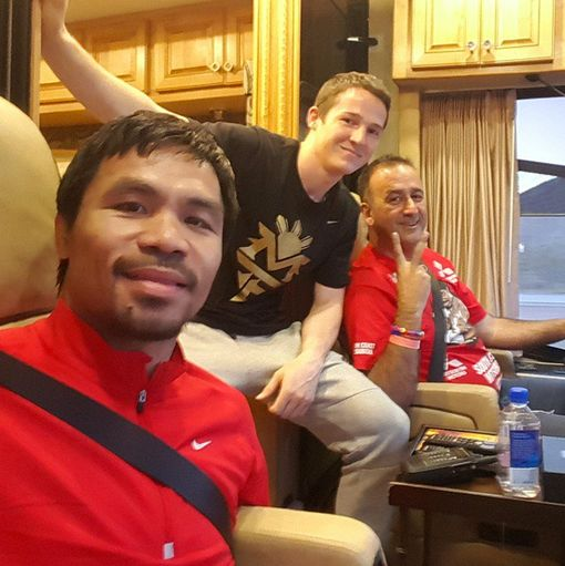 Manny Pacquiao on his way to Vegas