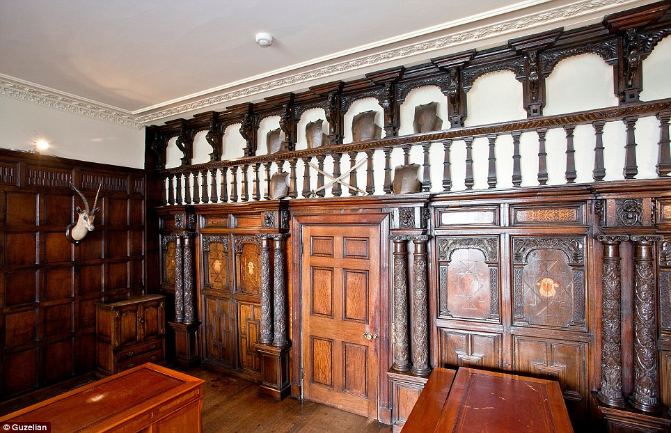 Protected: The oak wall panels which surround the majority of the rooms in the house are insured for £750,000. Three other historic listed houses on the incredible Kirklees Priory are also for sale and cost between £425,000 and £625,000.