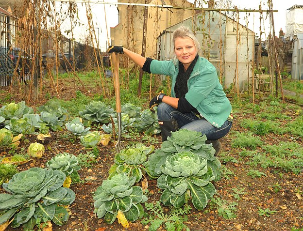 Value: Celia Brooks rents an allotment for just £36 a year