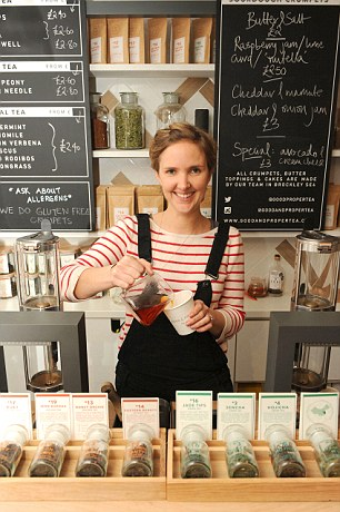 New leaf: Emilie Holmes used crowdfunding for her tea business