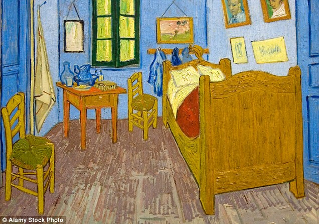 Van Gogh's Bedroom at Arles painted in 1888 by Vincent van Gogh