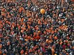 Sea of orange: