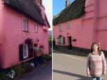 Row: There has been one complaint about the colour of the house is Kennford, Devon (pictured), and the council has taken that on towards court