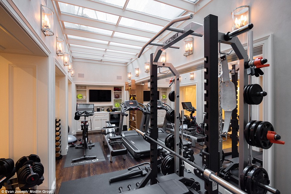 It now also features a complete gym on the bottom floor, complete with weights and cardio equipment