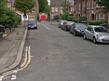 Manhunt launched: A 12-year-old girl was raped by two teenagers near a garage area in Hibbert Road (pictured), Walthamstow, just after midnight, police have said
