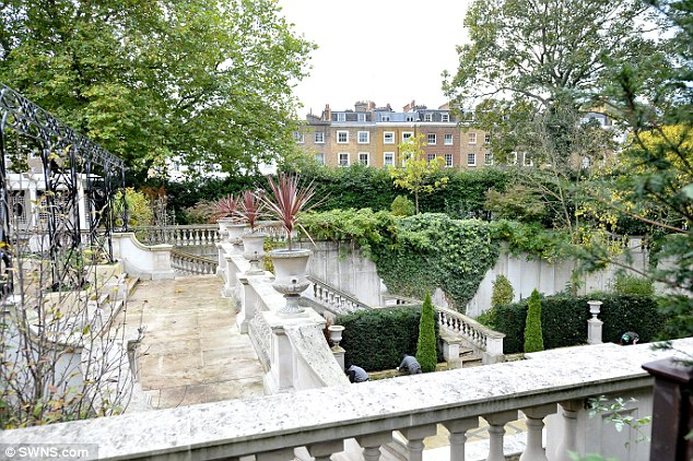 The royal family even offered to give £850,000 to the council's affordable housing plan as part of the proposal, pictured is the garden of 1 Cornwall Terrace