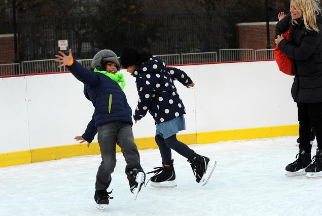 Plans are afoot to double the size of the newly opened ice skating rink, make skaters into daters and maybe even add a frozen chute for sledding, city records show.
