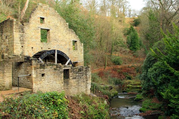The ruined mill at Jesmond Dene