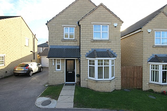 This recently built detached home offers three bedrooms and outdoor space for less than £150,000