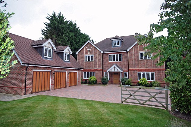 This multi-million pound property comes with three floors in the main house and a triple garage