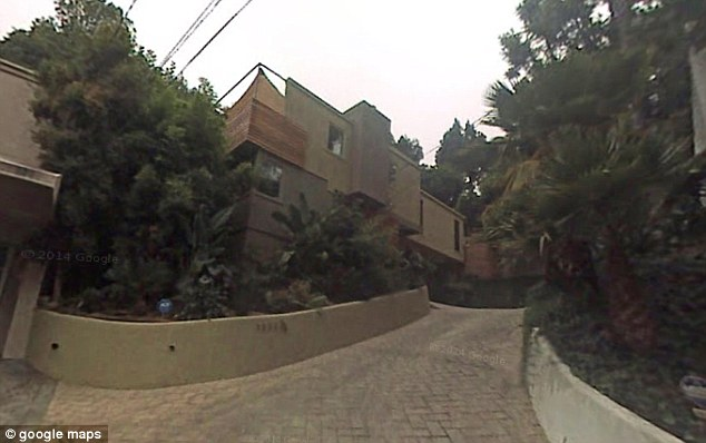 Neighbours: The two houses are right next door to each other in the Hollywood hills, where homes currently fetch an average of$3.4M
