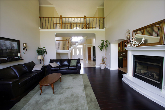 This is an interior view of a luxury home listed at $1,029,900 on Wednesday, July 30, 2014, in Springfield, Ill. The home is located near The Rail Golf Cours...
